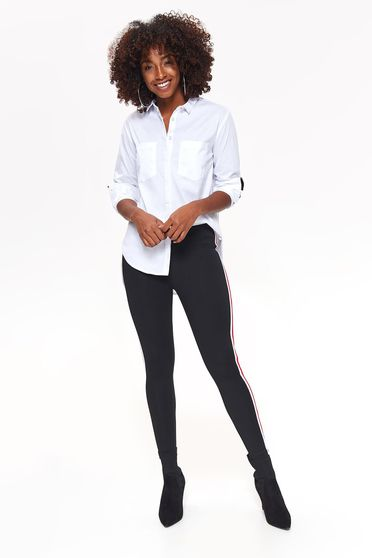 Top Secret black tights casual with tented cut slightly elastic fabric with medium waist