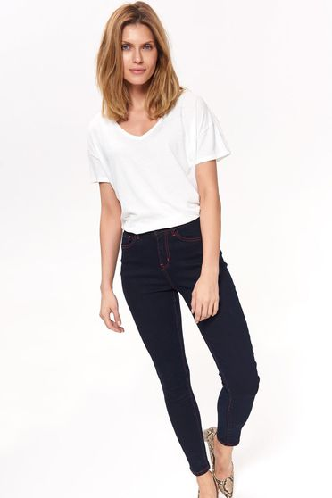 Top Secret darkblue casual jeans slightly elastic cotton with medium waist with pockets