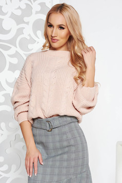 Rosa casual flared sweater short cut knitted fabric