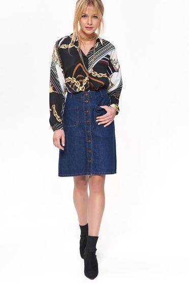 Top Secret S041648 Blue Skirt