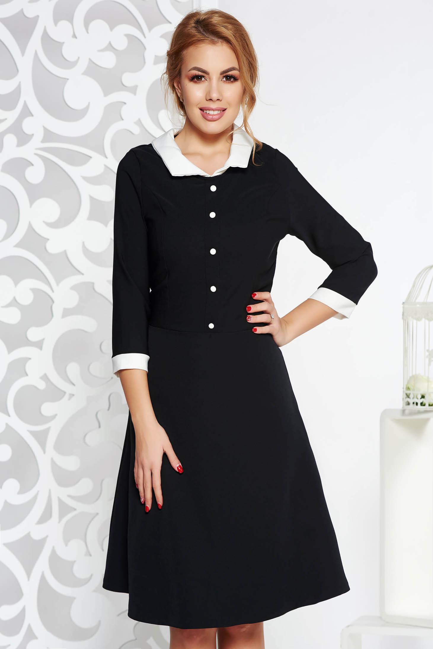 Fekete irodai midi harang ruha enyhén rugalmas szövet belső béléssel 524b259e97