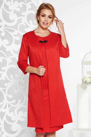 Red elegant lady set slightly elastic cotton