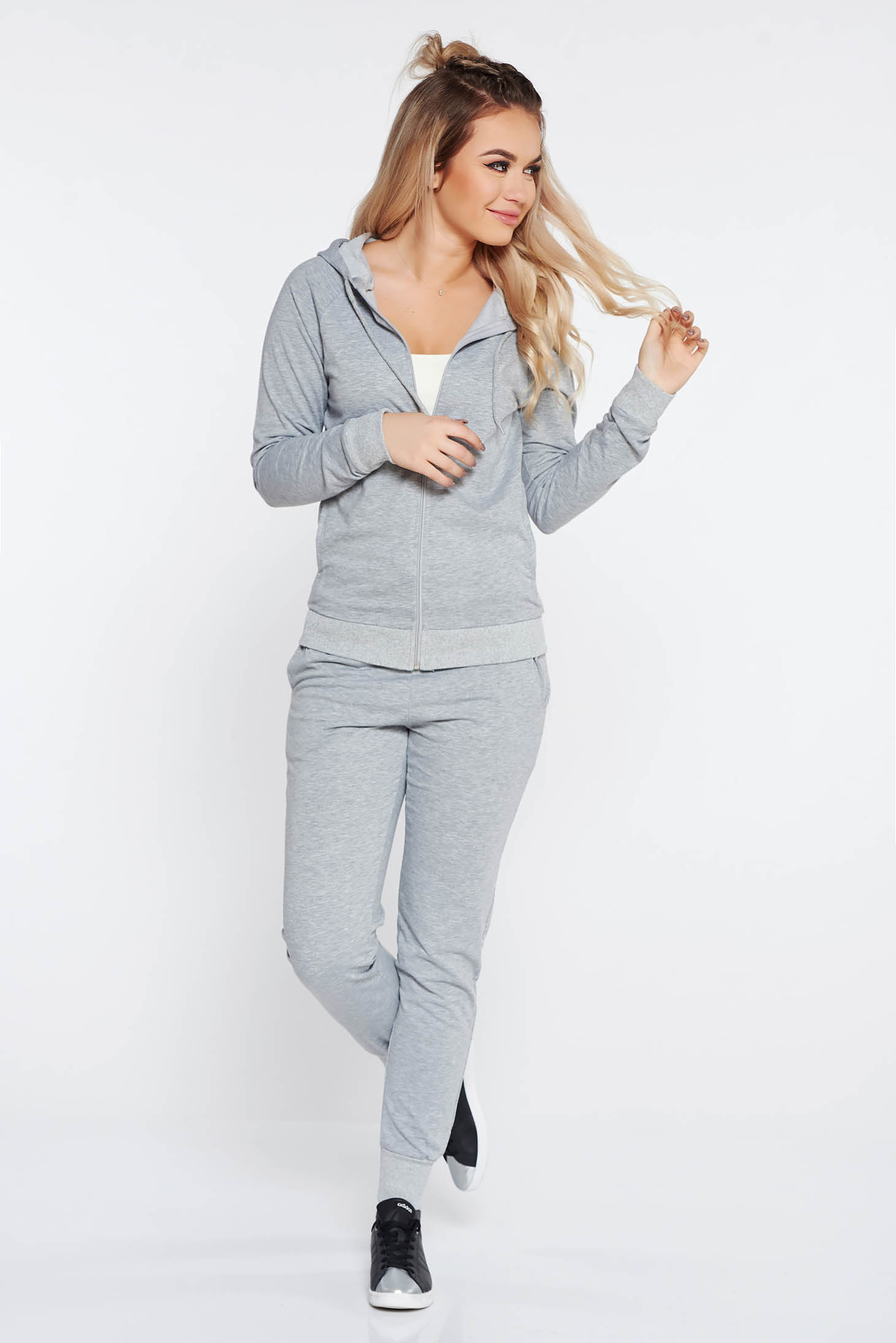 SunShine grey sporty set from 2 pieces slightly elastic cotton