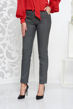 StarShinerS grey conical office trousers slightly elastic fabric with medium waist with pockets
