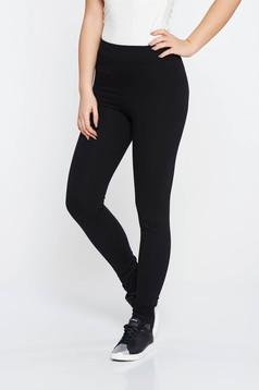 SunShine black casual tights with medium waist cotton with elastic waist