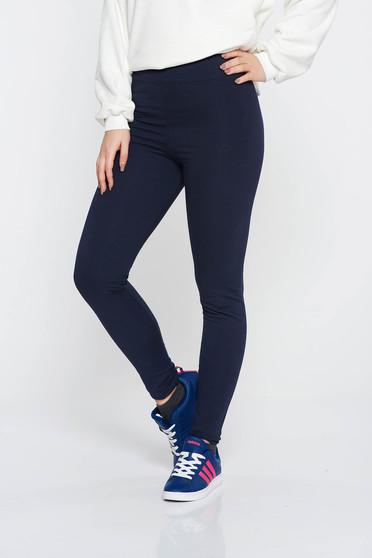 SunShine darkblue casual tights with medium waist cotton with elastic waist