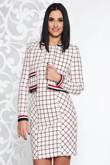 StarShinerS white cotton lady set with chequers with inside lining