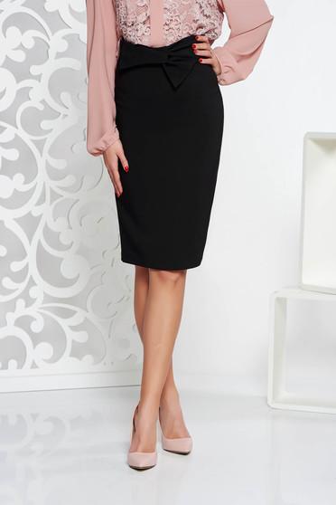 LaDonna black elegant high waisted pencil skirt slightly elastic fabric