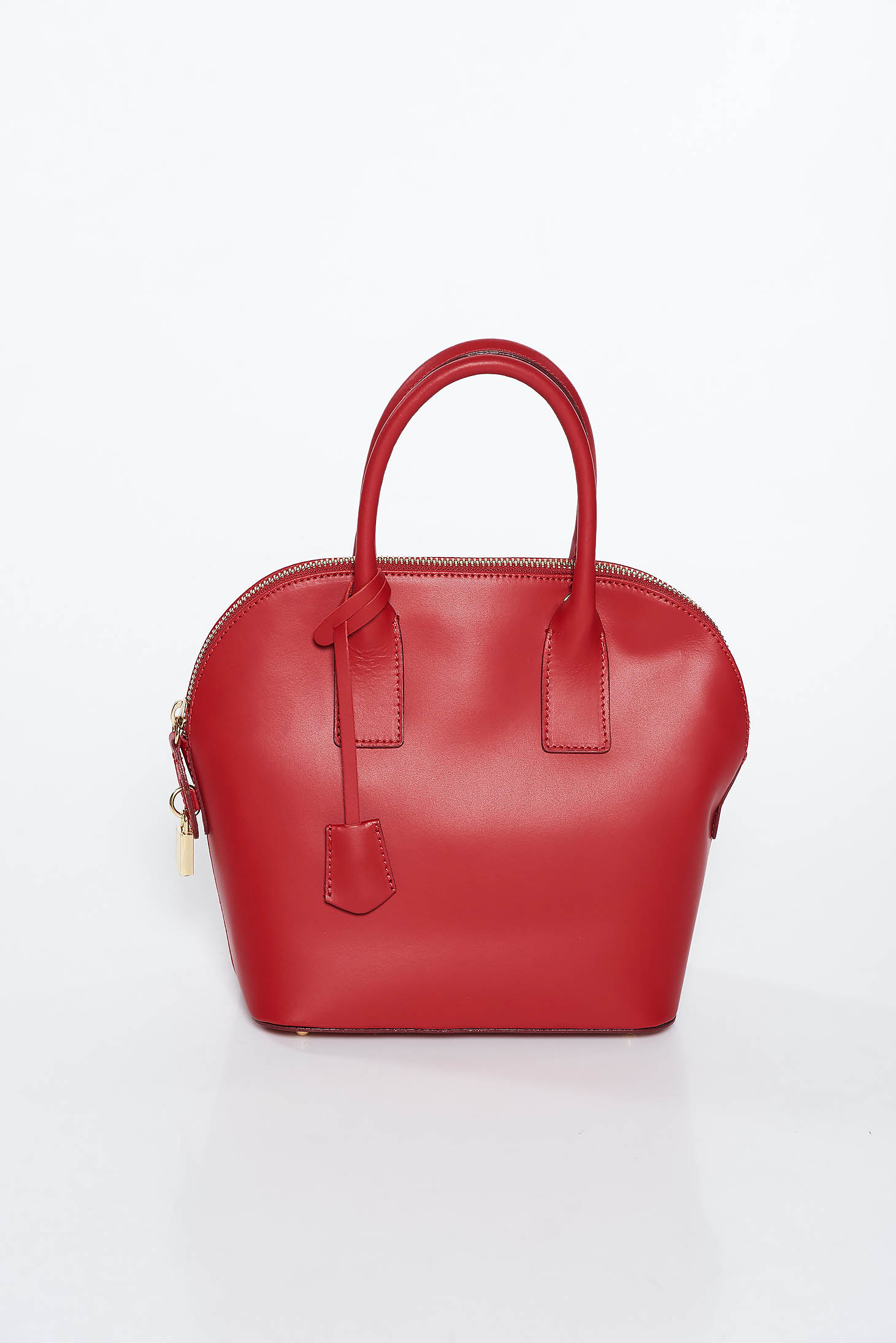Burgundy office bag natural leather with a compartment with internal pockets