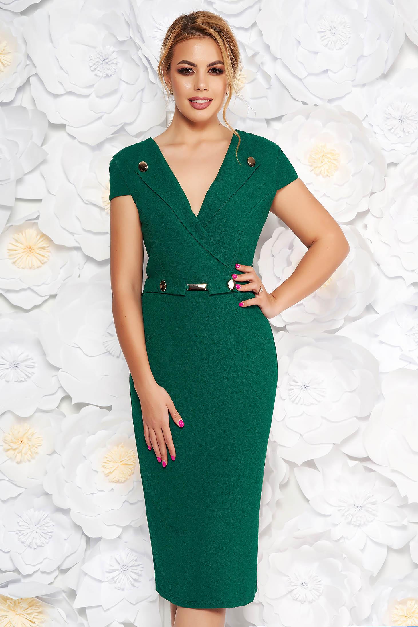 StarShinerS green elegant midi pencil dress