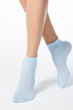 Lightblue sock from elastic fabric net stockings