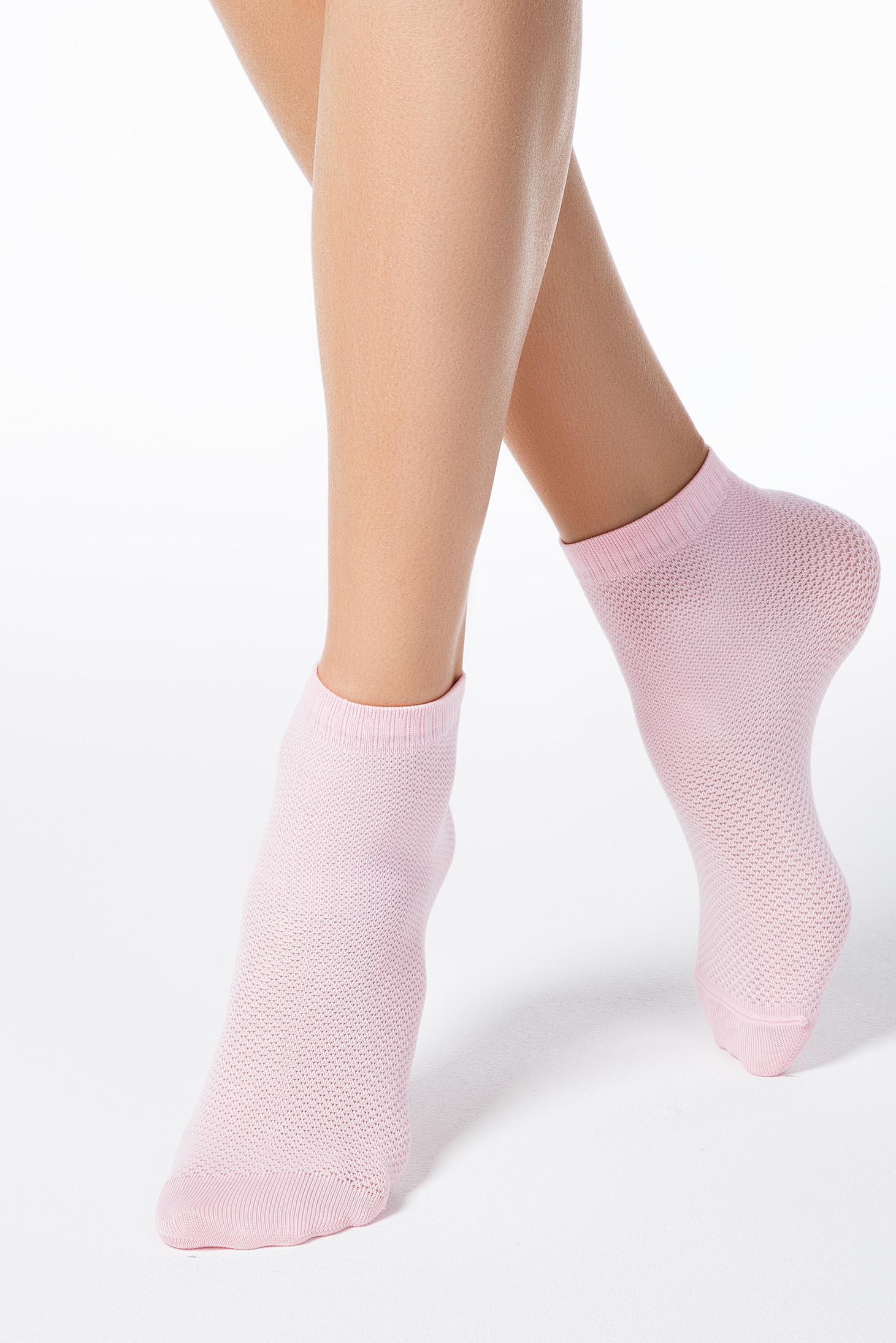 Dresuri & sosete roz deschis din material elastic tip plasa