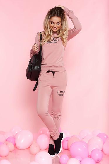 SunShine rosa casual set slightly elastic cotton with pockets long sleeved