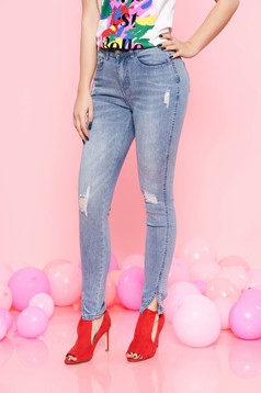 Top Secret lightblue casual jeans slightly elastic cotton with pockets high waisted