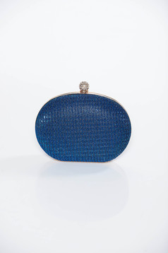 Blue bag occasional clutch long chain handle