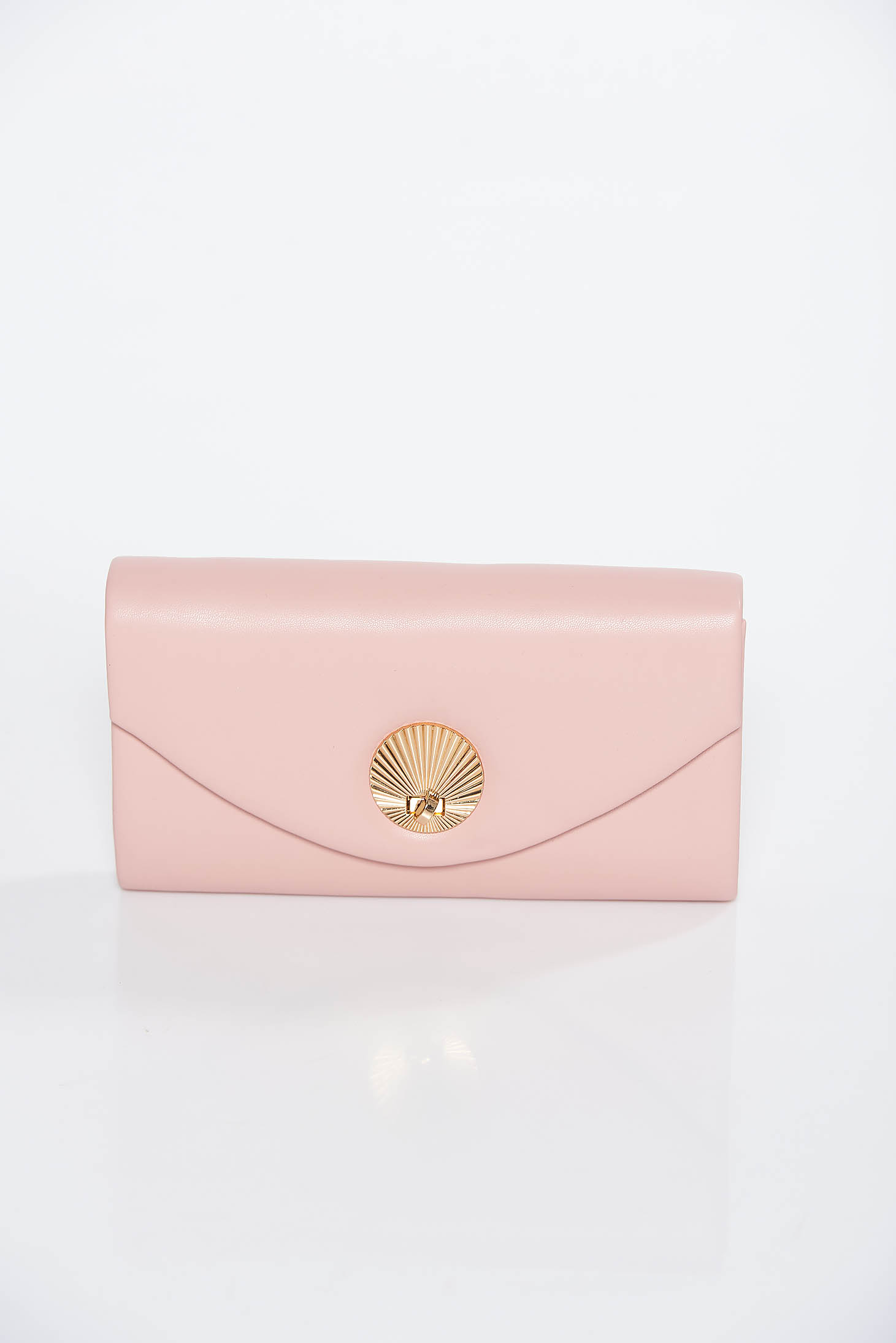 Rosa clutch bag from ecological leather long chain handle