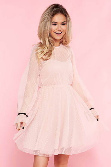 SunShine rosa casual cloche dress from tulle with inside lining with push-up cups