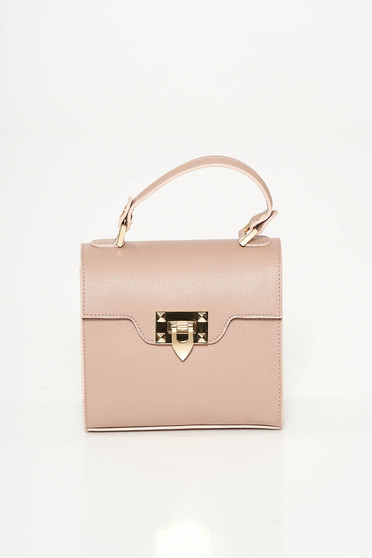 Rosa casual bag natural leather metallic buckle