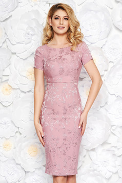 Rosa occasional midi pencil dress from jacquard with inside lining