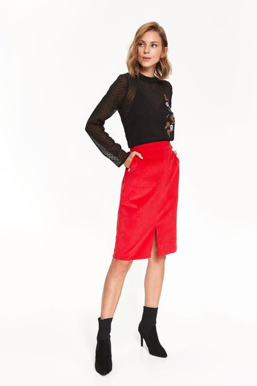 Top Secret S042419 Red Skirt
