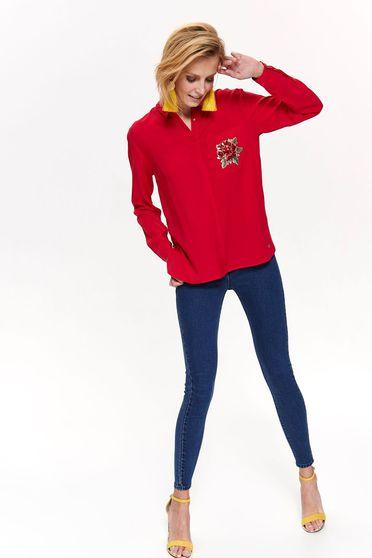 Top Secret S042437 Red Shirt