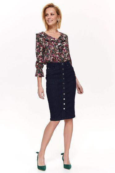 Top Secret S042520 DarkBlue Skirt