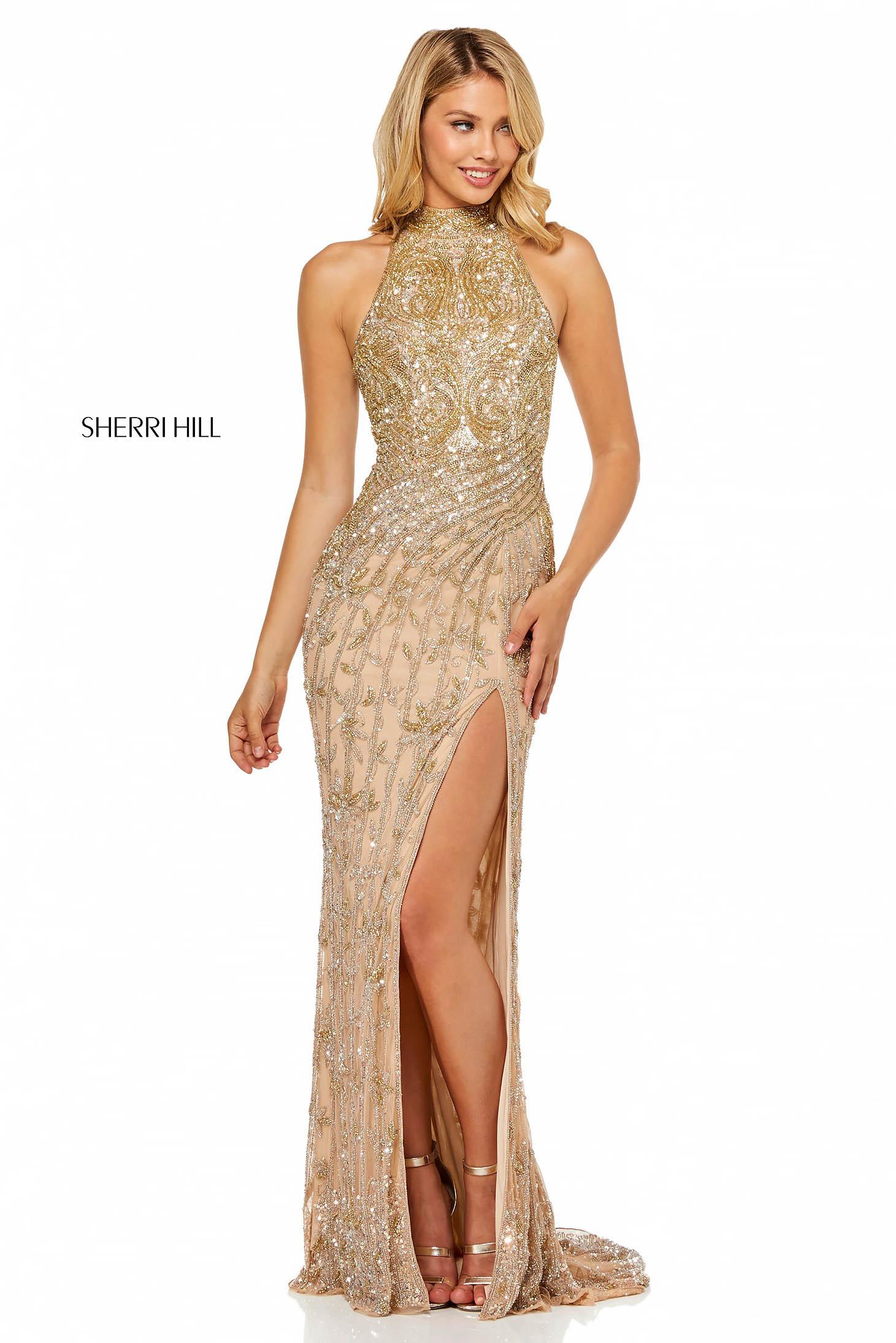Rochie Sherri Hill 52426 Nude