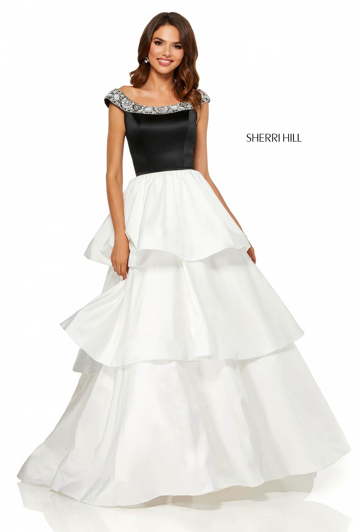 Rochie Sherri Hill 52427 White