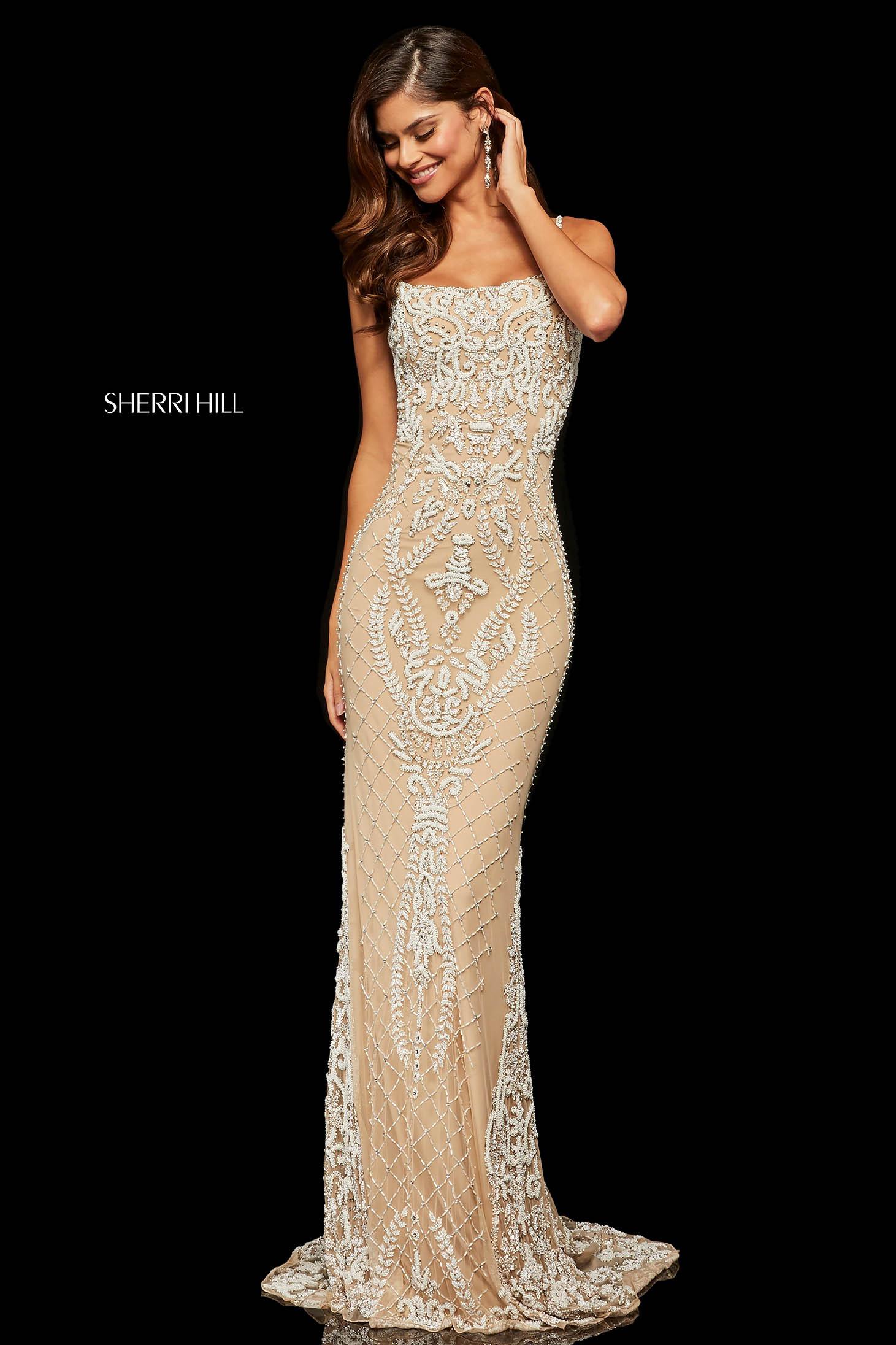 Sherri Hill 52454 Nude Dress