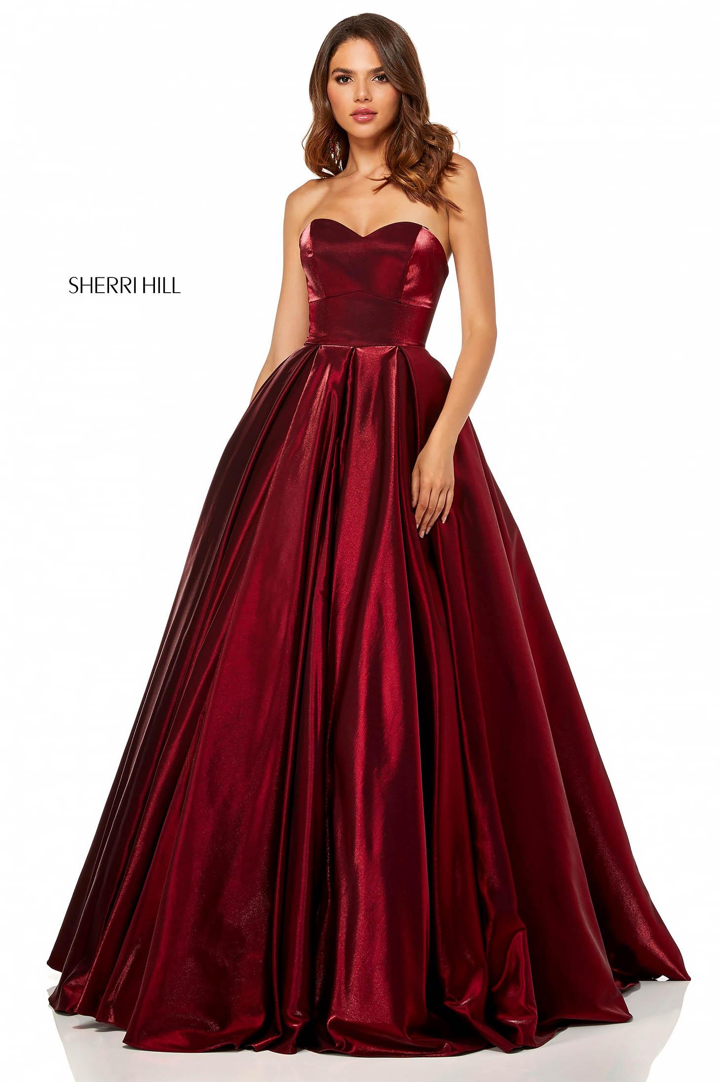 Rochie Sherri Hill 52456 Burgundy