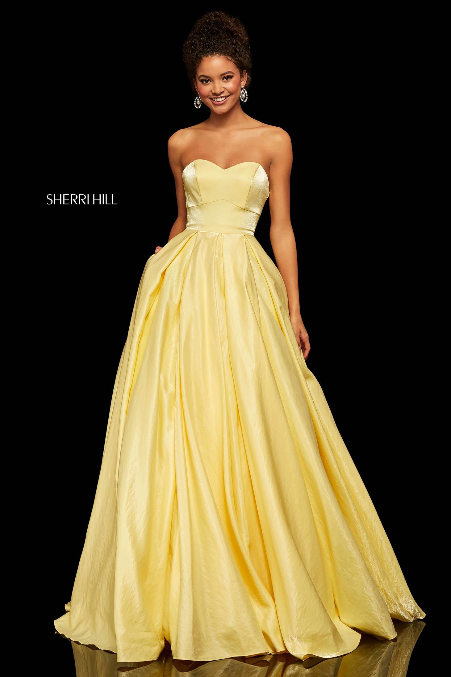 Rochie Sherri Hill 52456 Yellow