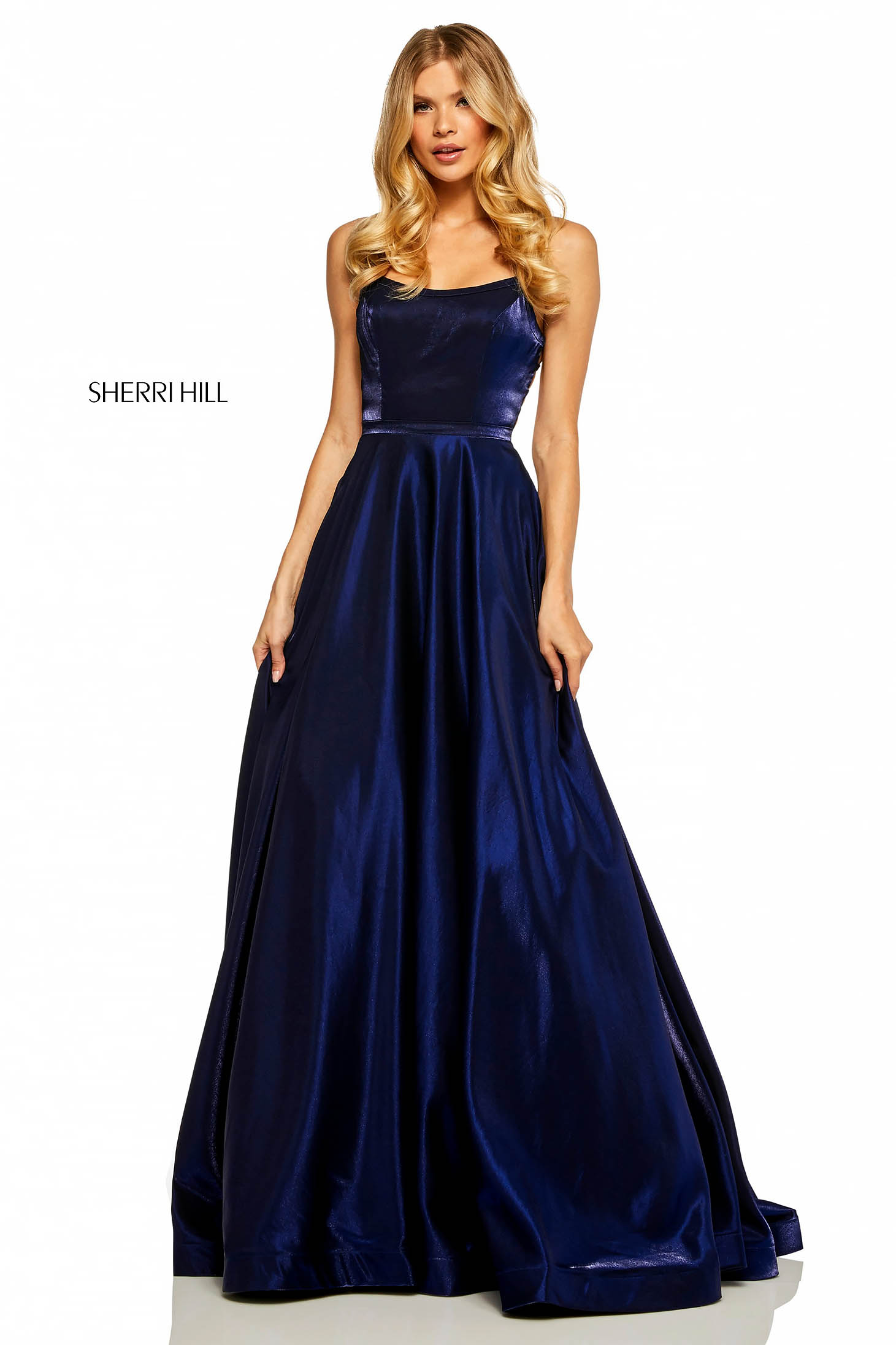 Rochie Sherri Hill 52457 DarkBlue