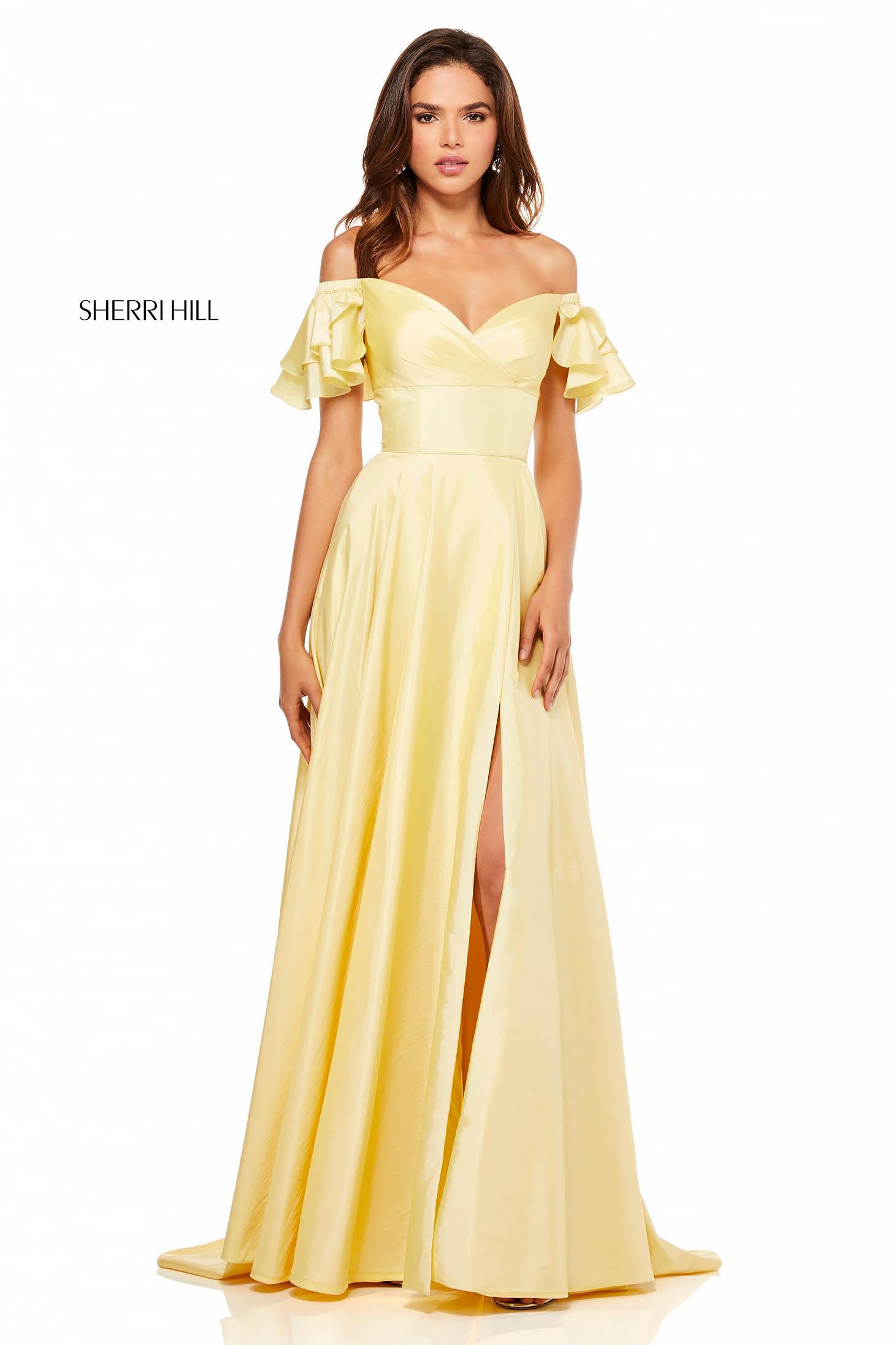 Sherri Hill 52469 Yellow Dress
