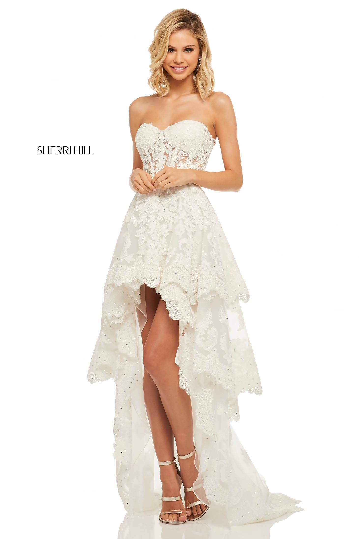Rochie Sherri Hill 52513 White