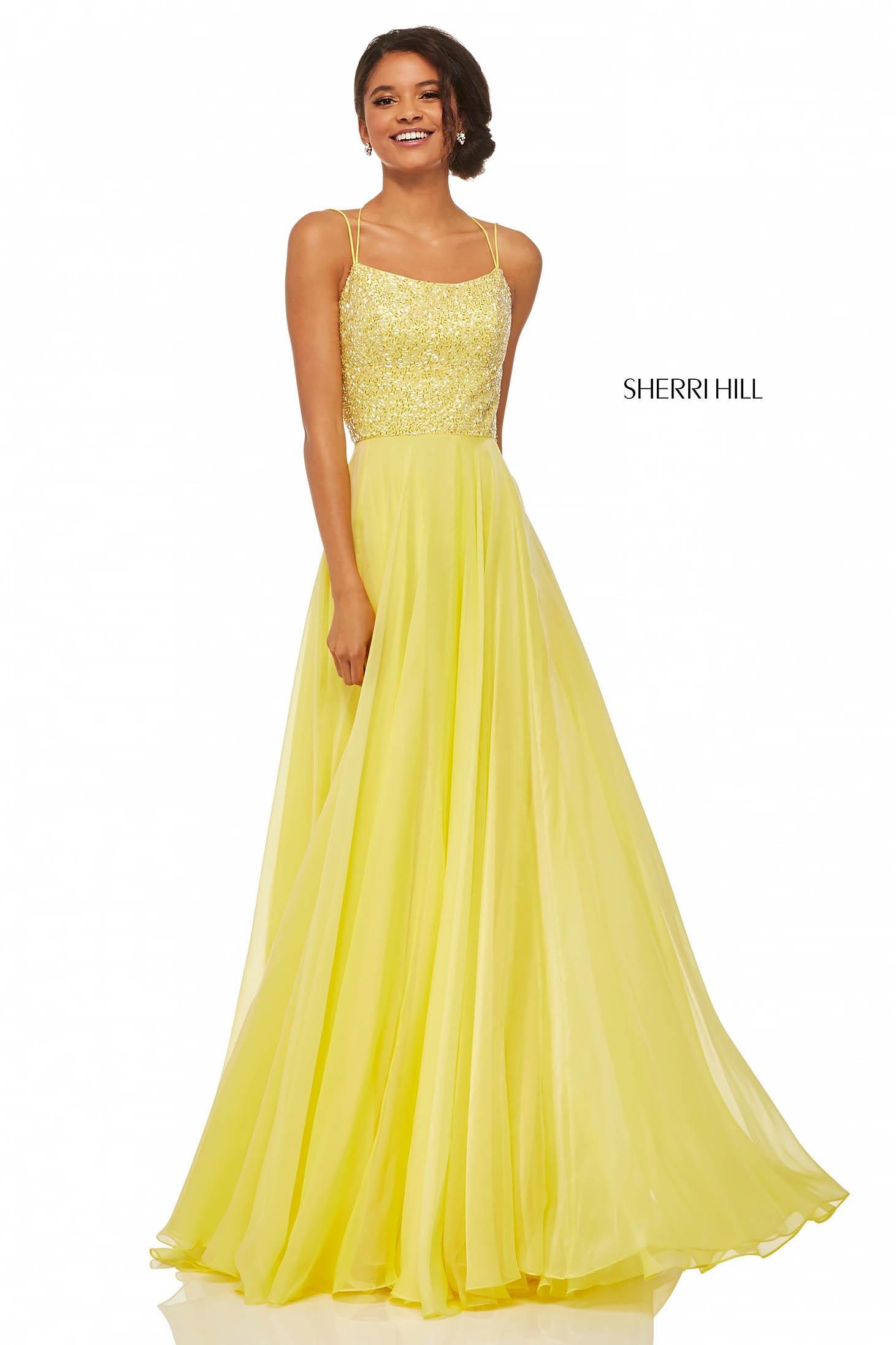 Sherri Hill 52591 Yellow Dress