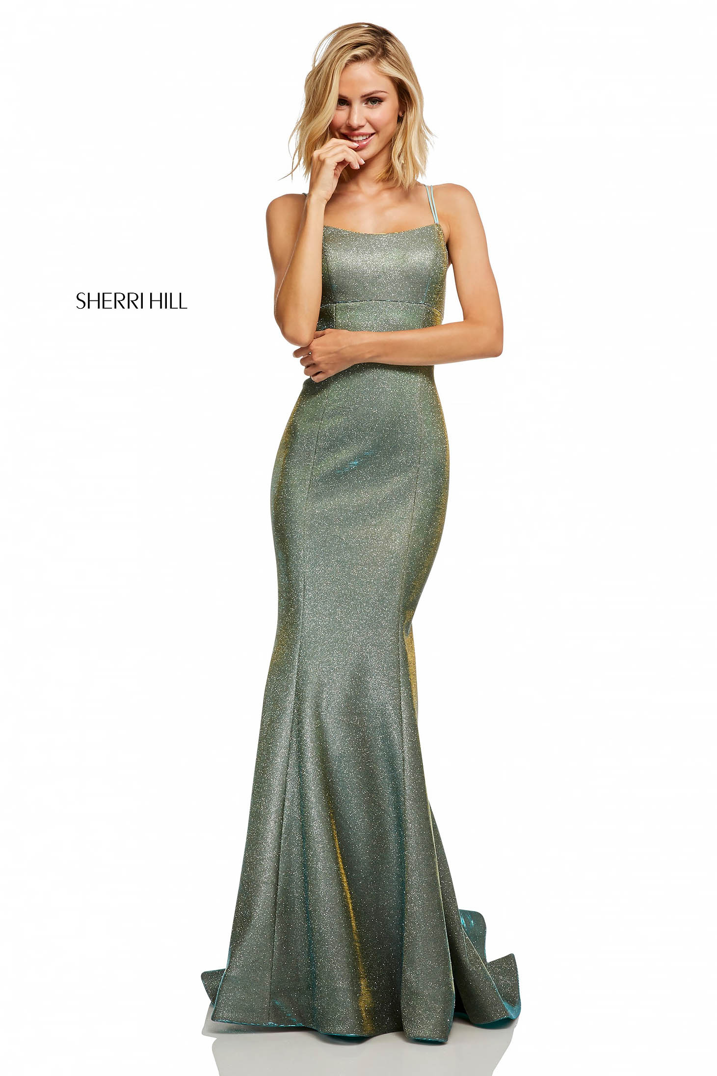 Rochie Sherri Hill 52614 Silver