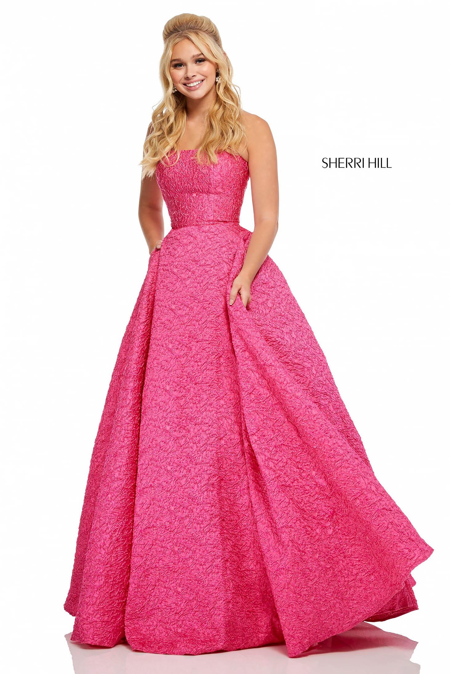 Rochie Sherri Hill 52681 Fuchsia