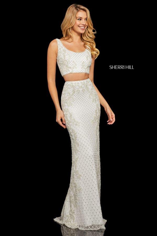 Rochie Sherri Hill 52686 White