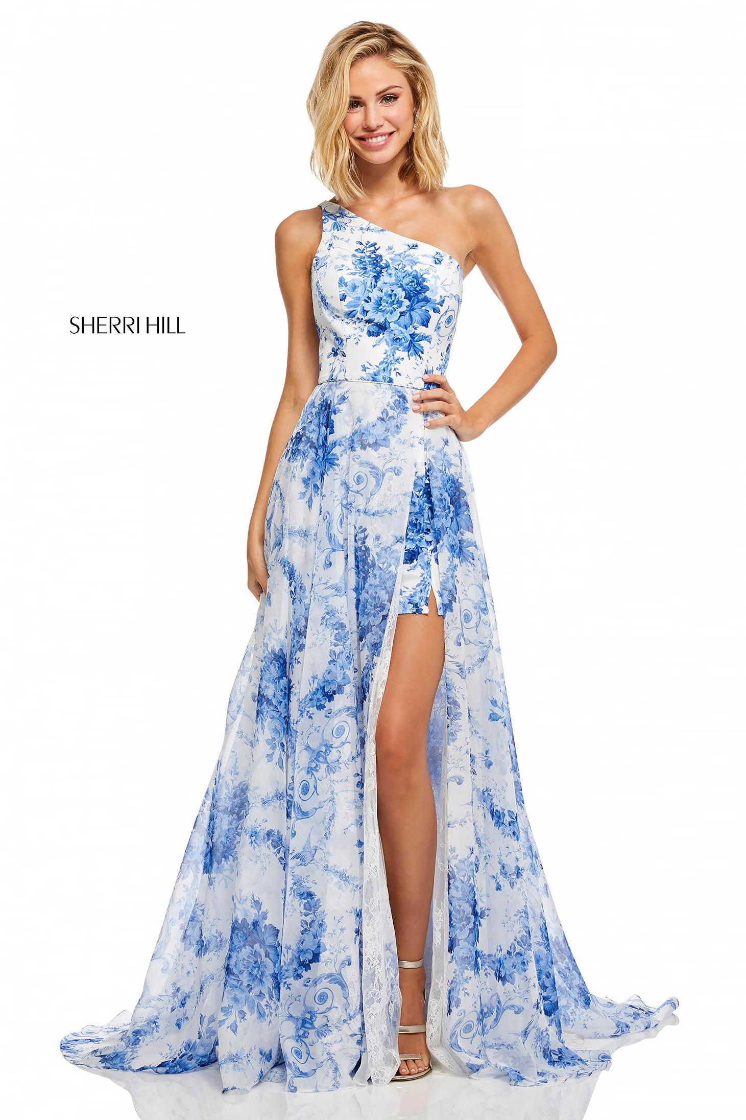 Rochie Sherri Hill 52728 White