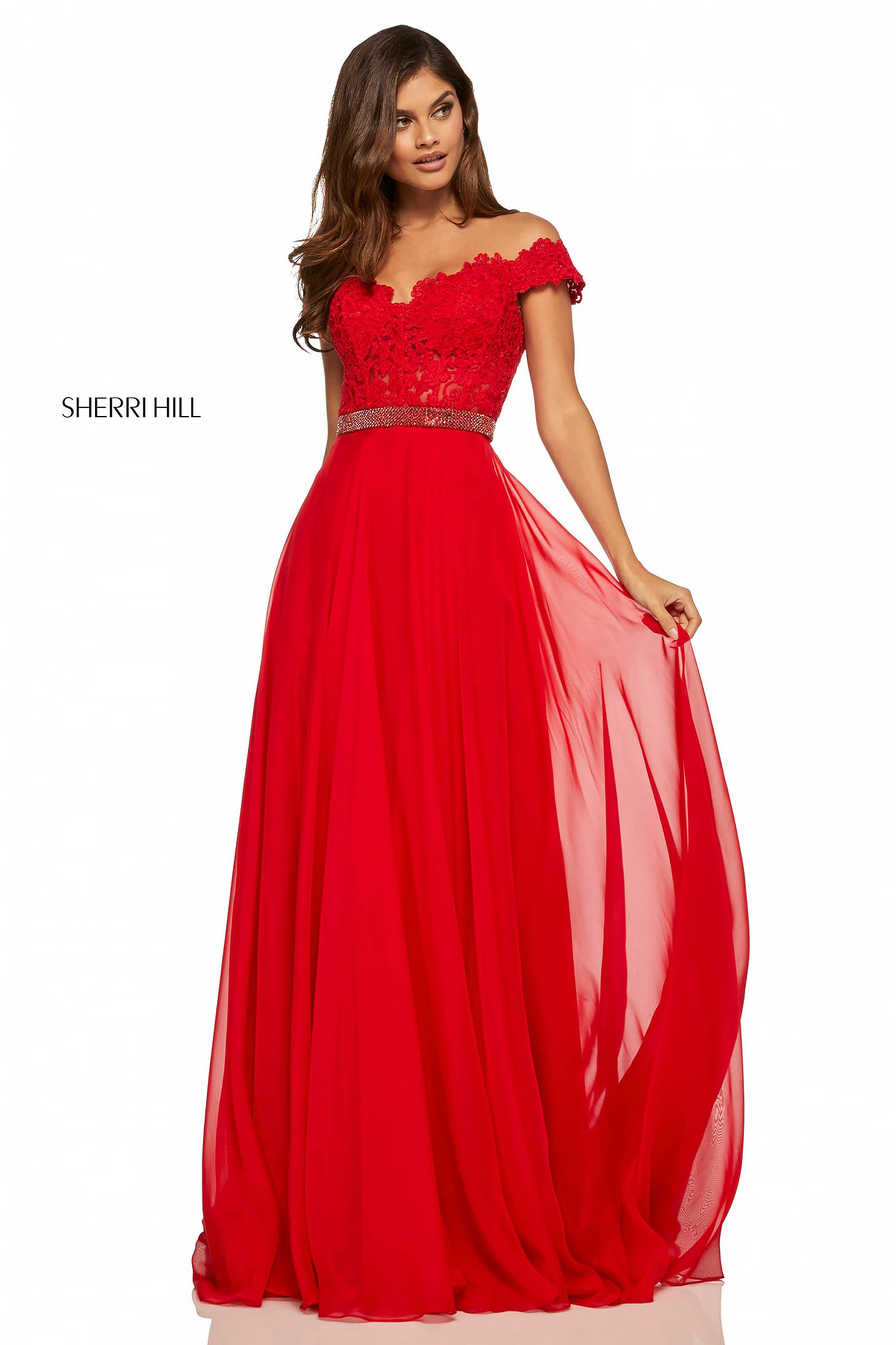 Rochie Sherri Hill 52729 Red