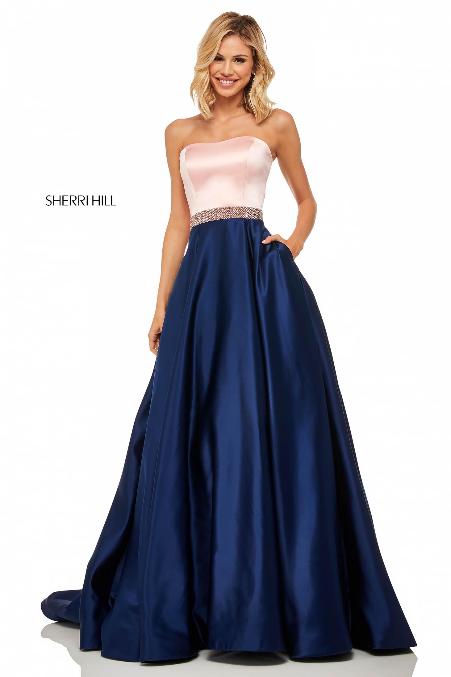 Rochie Sherri Hill 52776 Blue