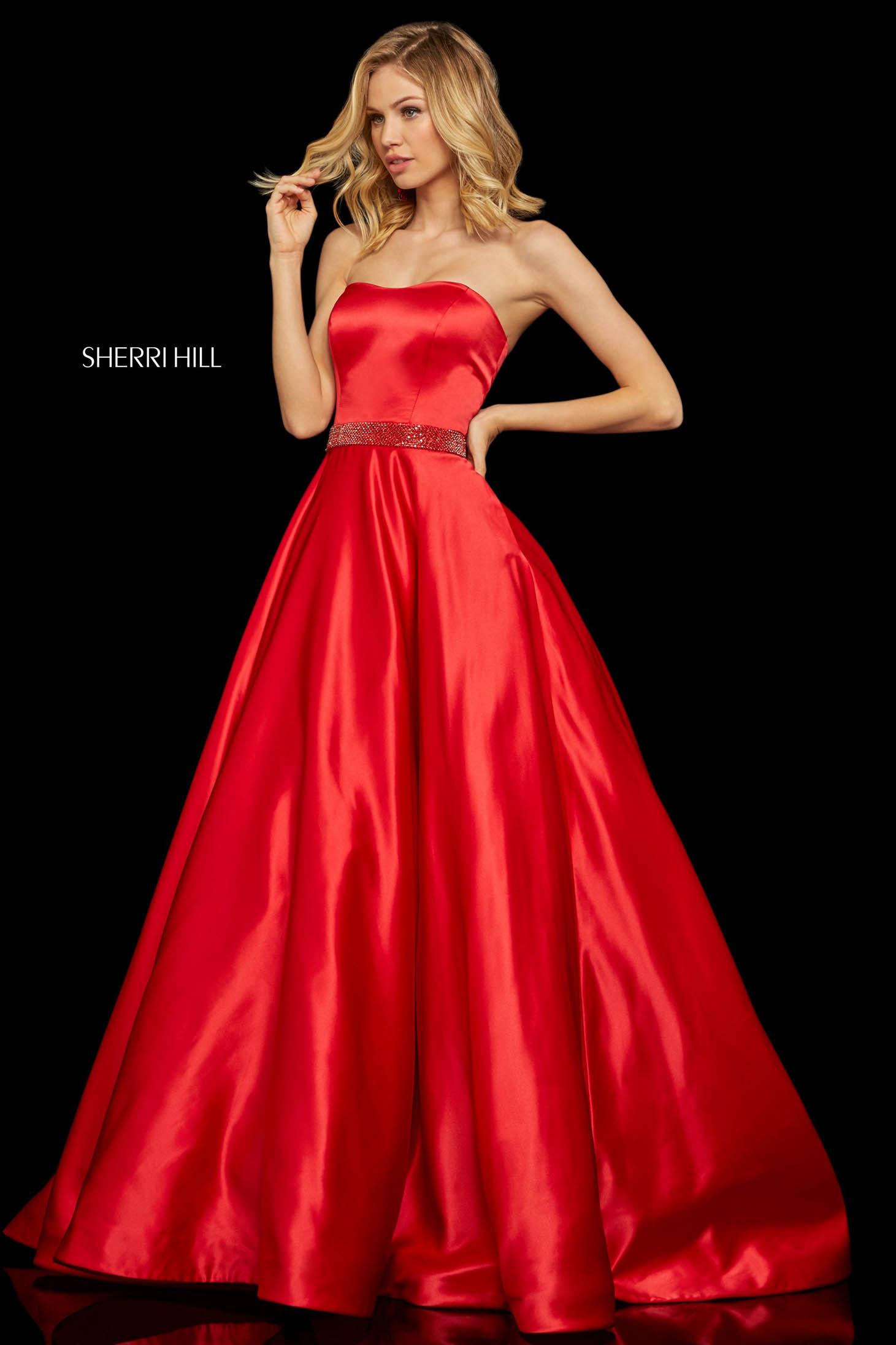 Rochie Sherri Hill 52776 Red