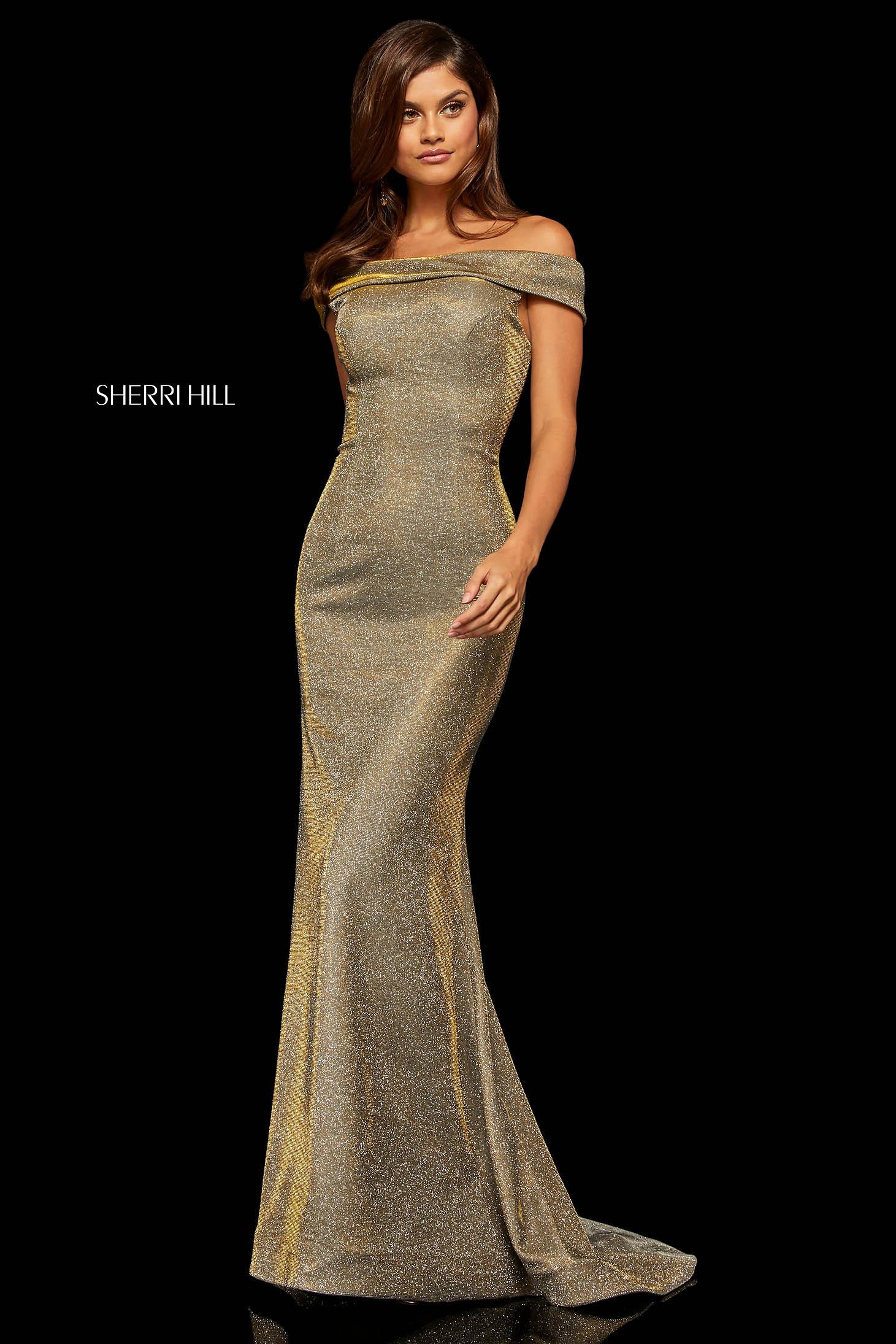 Rochie Sherri Hill 52825 Gold