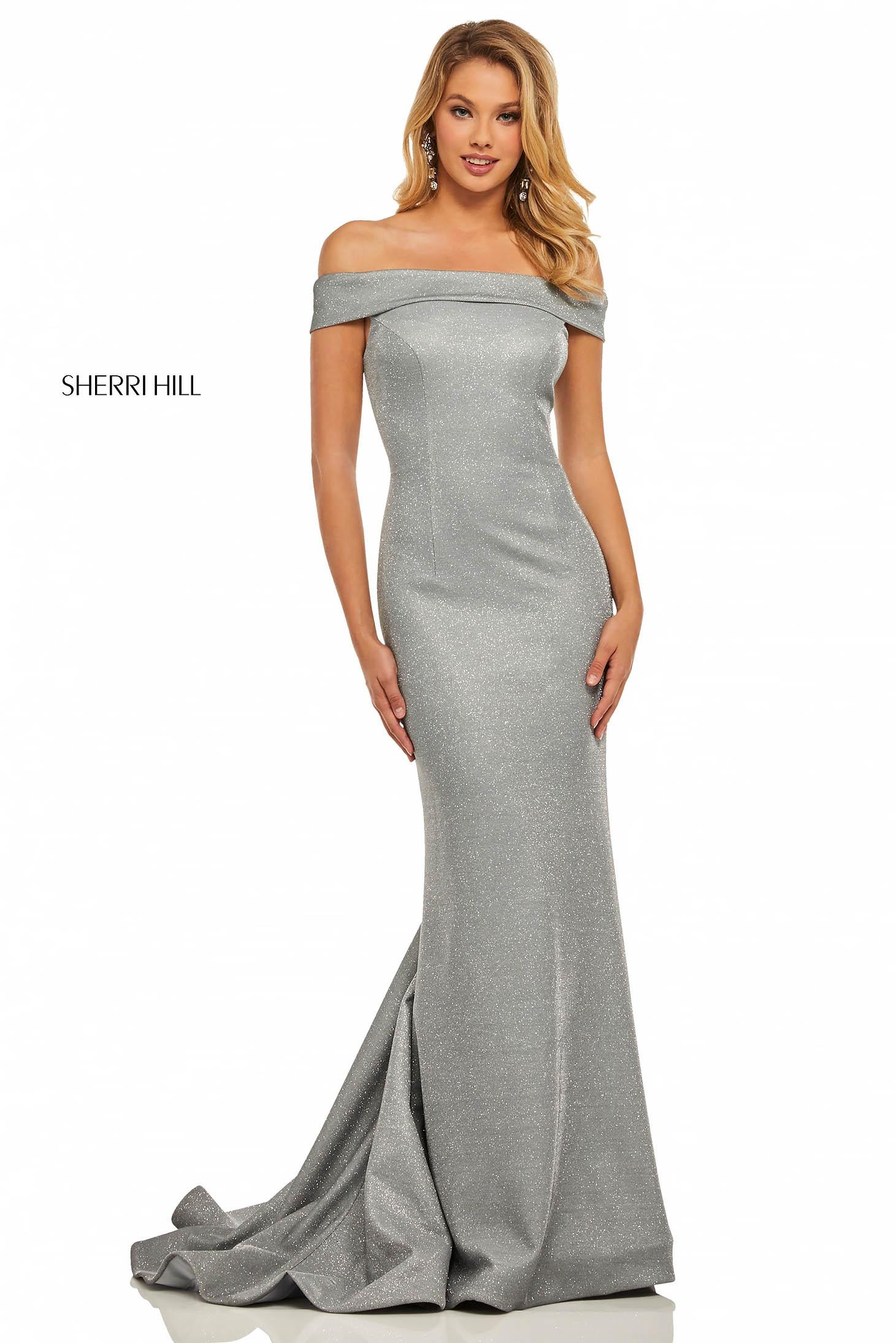 Rochie Sherri Hill 52825 Silver