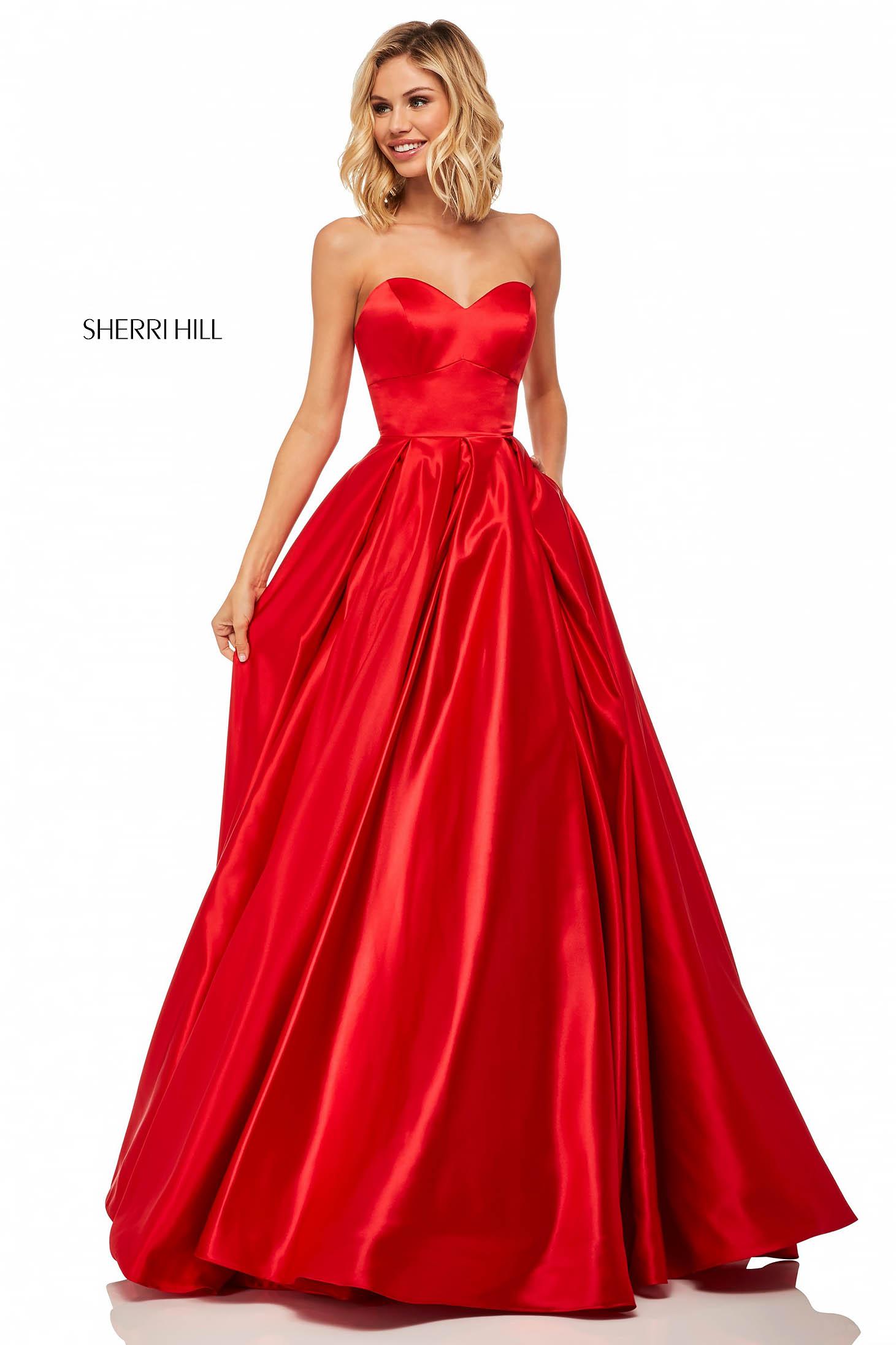 Sherri Hill 52850 Red Dress
