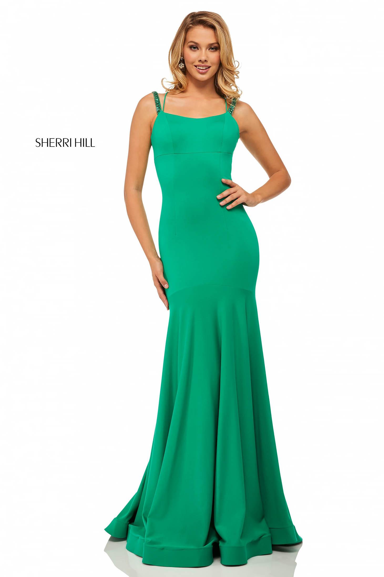 Rochie Sherri Hill 52883 Green