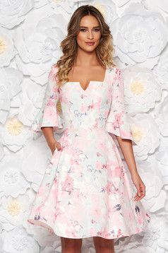 StarShinerS rosa dress daily cloche midi soft fabric with floral prints