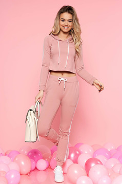 SunShine rosa casual set slightly elastic cotton with pockets with laced details