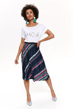 Top Secret darkblue casual cloche skirt with stripes