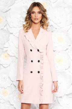 LaDonna rosa office blazer type dress from non elastic fabric with inside lining with pockets
